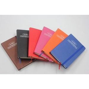 High quality Small size PU cover pocket notebook with elestic string