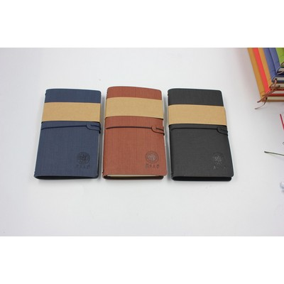 High quality old fashioned tour Detachable notebook with elastic string and small waterproof PVC bag